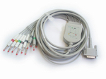 HP one-piece EKG cable with leads