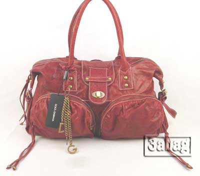D&G date red lambskin leather handbag 030618