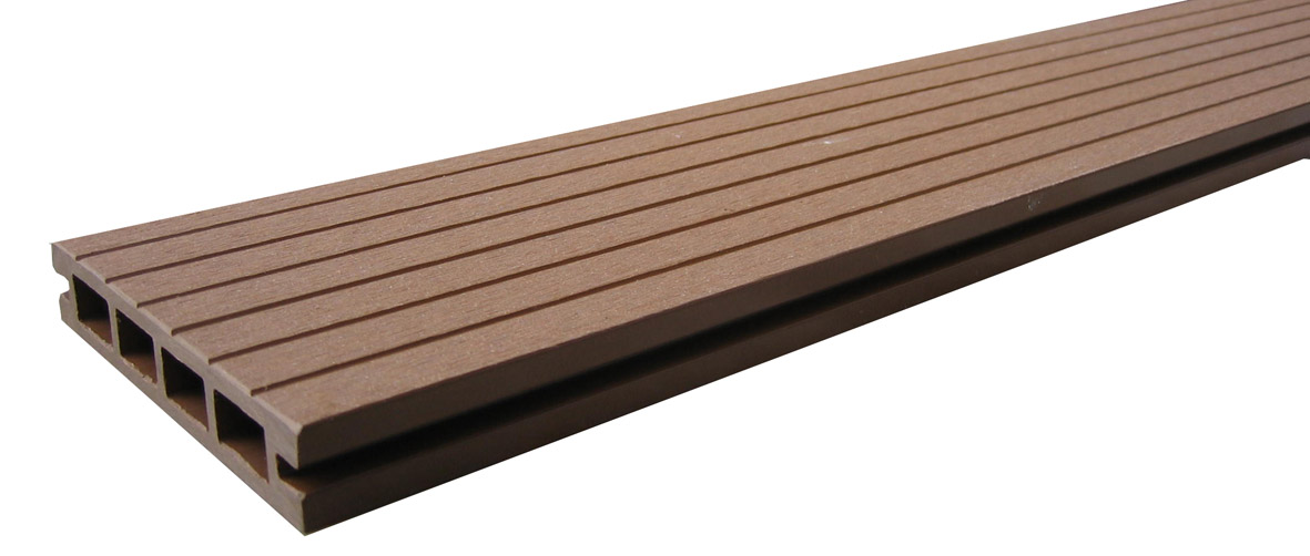Wood plastic wpc decking board lhma041 wpc decking for Plastic wood flooring
