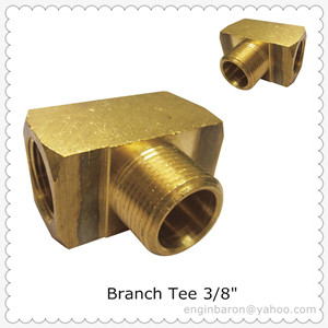 Brass Branch Tee,3/8
