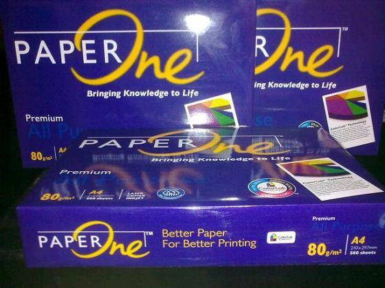 A4 copy paper 80gsm Paper One