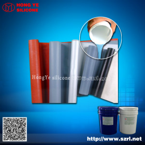 Silicone rubber for textile coating
