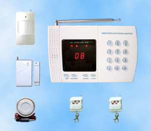 8 wireless zones auto dial home alarm system