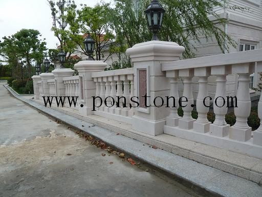 sandstone pillars balusters