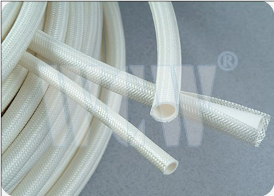 Silicone Rubber Glassfiber insulating Sleeving(inside rubber
