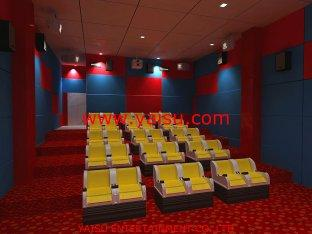 3D 4D 5D 6D Cinema Theater Movie Motion Chair Seat System Fu