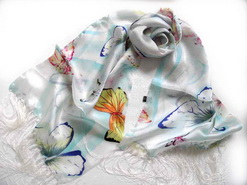 Fashion real silk scarf
