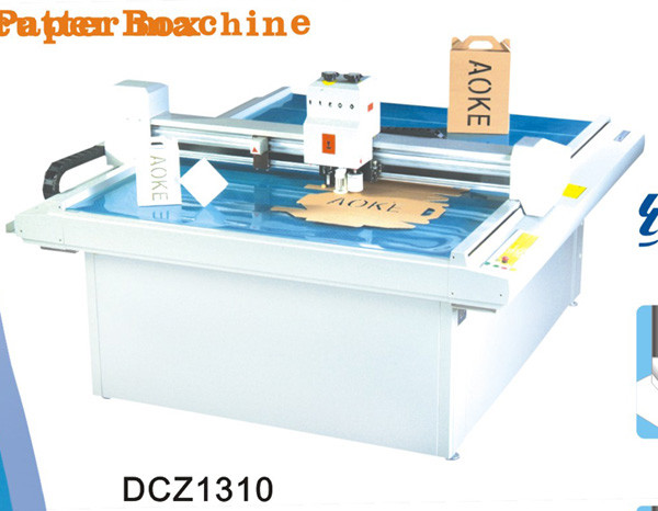 DCZ1310 carton box die cut plotter sample make cut machine