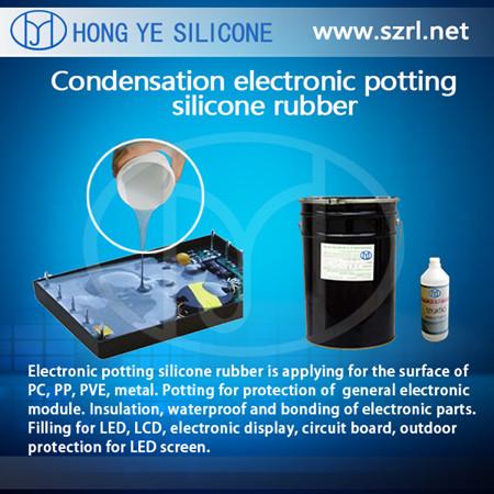 Condensation encapsulating and potting compound
