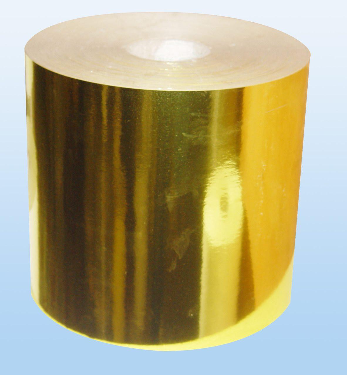 gold PET sticker