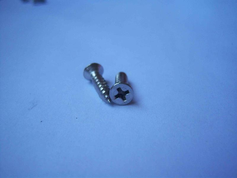 countersunk flat head tapping screws with cross drive
