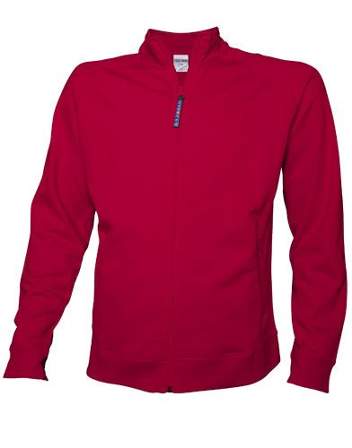 Full Zip Cadet Collar Sweatshirt