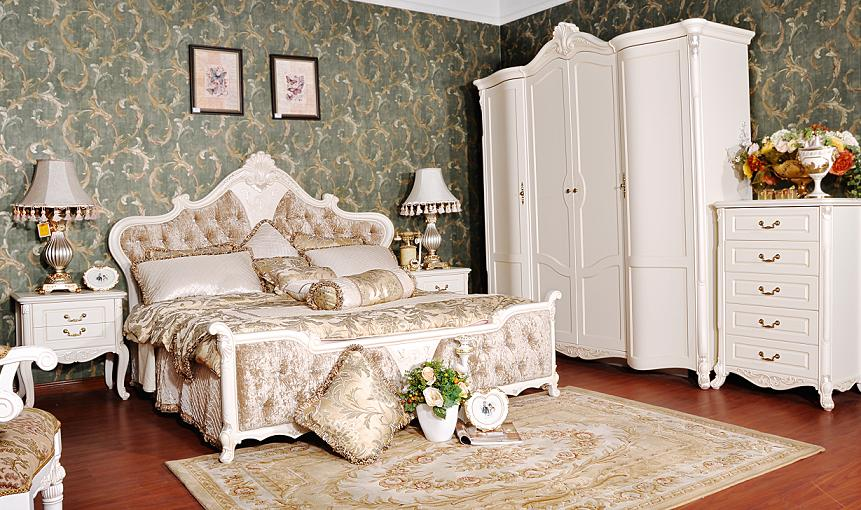 Wtj 201 new romantic bedroom furnituredouble bedwardrobe