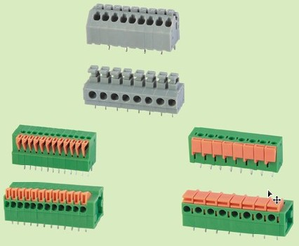PCB screwless terminal block