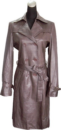 Leather Coat For Lady