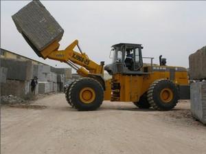 stone block forklift loader