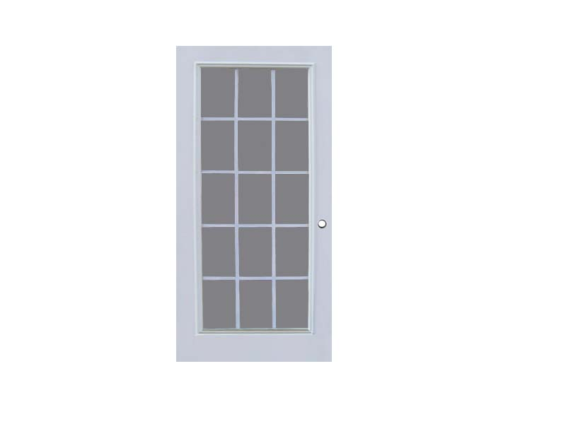 15 lite exterior door masonite 15 lite unfinished fir