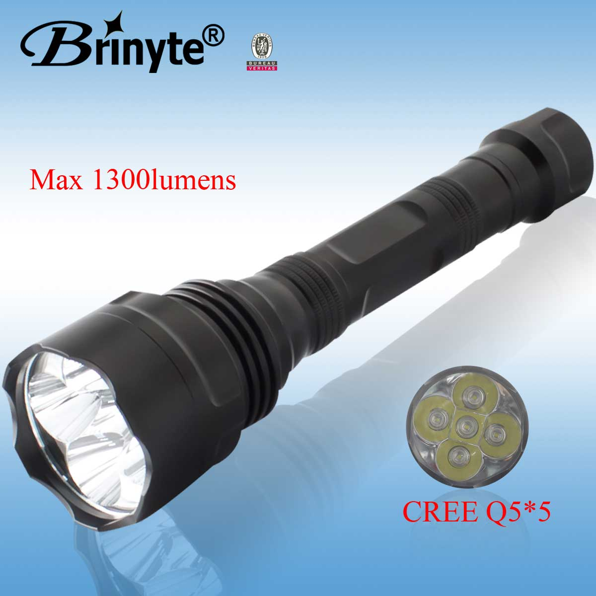 Aluminum flashlight High Power CREE led torch