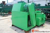 Organic fertilizer granulation machine double rollers