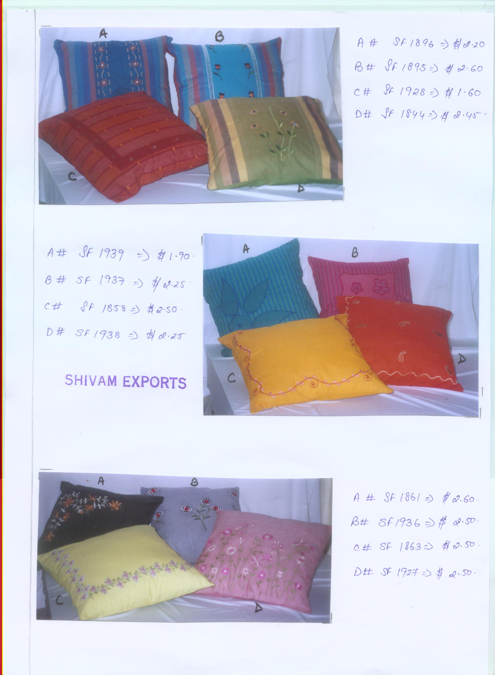 cushions and pillow covers