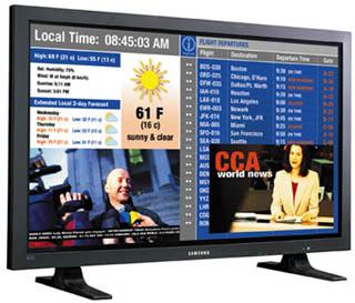 SAMSUNG 63-IN HDTV PLASMA DISPLAY