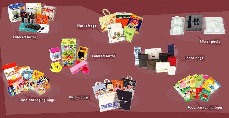 Colored Boxes, Cardboard Boxes, Plastic Bags, Book Printing