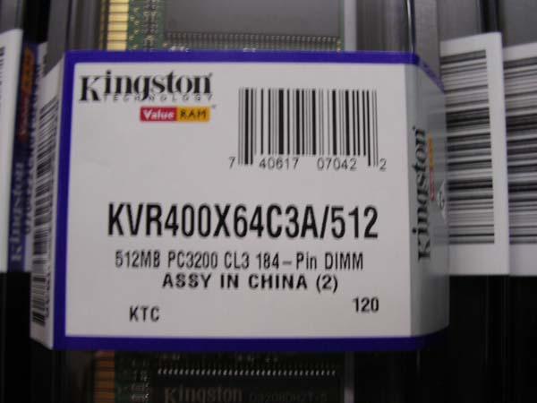 Kingston DDR RAM