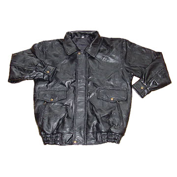 leather jacket men. Men#39;s Patch Leather Jacket