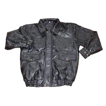 leather jacket men. Men#39;s Patch Leather Jacket