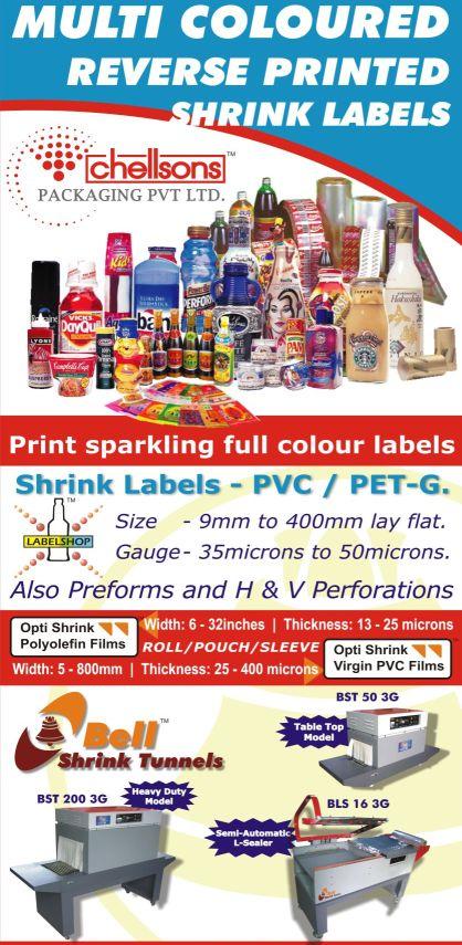 Shrink Labels PVC / PET / OPS / OPP