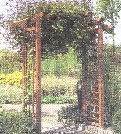 Wooden Garden Porch