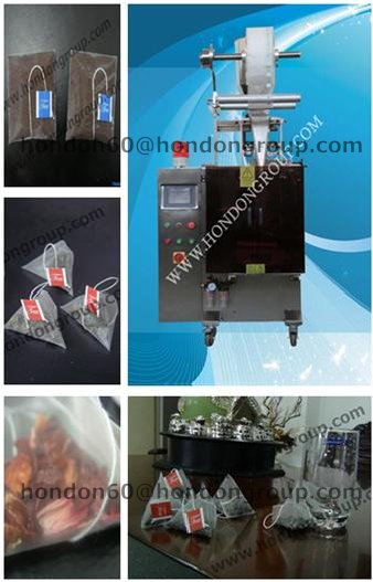 nylon pyramid Honey Ginger tea bag machine
