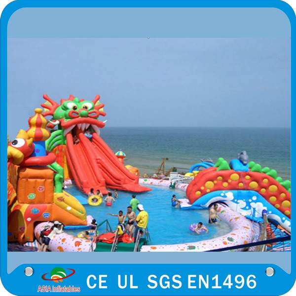 2015 Popular commercial inflatable water park on sale