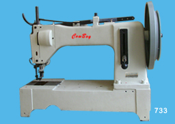Four needle puller feed parachute sewing machine