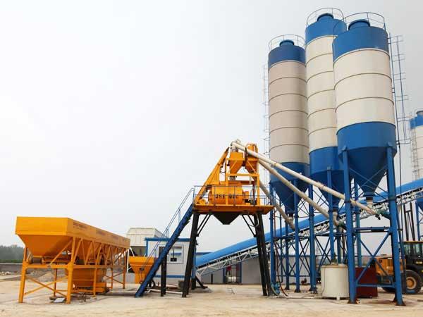 Buy Hopper Lift Concrete Mixing Plant